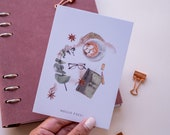 "Postcard ""Autumn Greetings""  | hand-drawn illustration | watercolour art | Lotti Groll Studio"