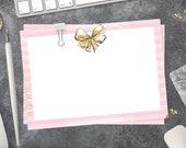 "Notecard Set ""Bow Notes"" |  Luxury Stationery | Lotti Groll Studio"
