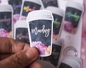 "Holo Die-Cut Sticker ""Monday Coffee"" | Lotti Groll Studio"