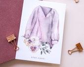Stay Cosy | Autumn Postcard | Fall Greetings | hand-drawn illustration | watercolour art | Lotti Groll Studio