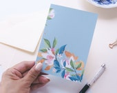 "Greeting Card  ""Summer Florals""| hand-drawn illustration | art | Lotti Groll Studio"