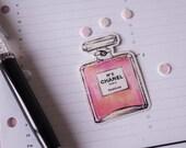 Perfume Sticker   pink   hand-drawn illustration   Lotti Groll Studio