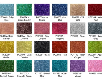 """Acrylic (PMMA) Two-Sided Premium Glittering Sheets, 3.0mm Thickness (.118""""), 24 Colors/3 Sizes Available!"""