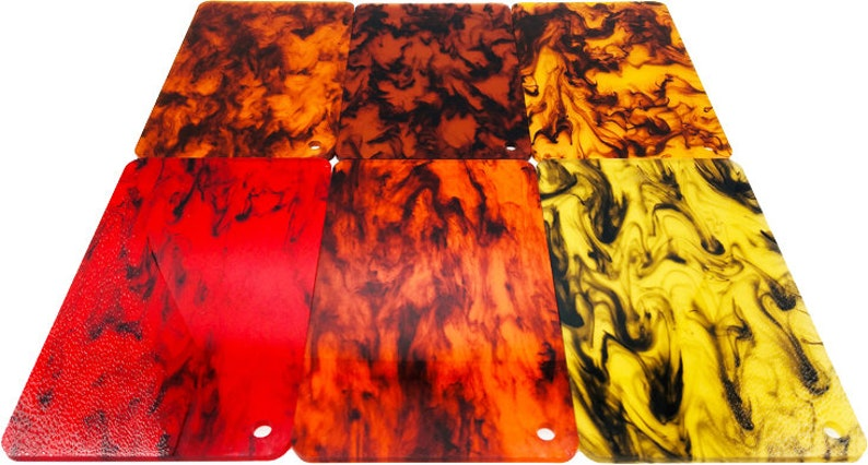 Acrylic 3.0mm Thickness - Scarlet PMMA .118 TI04 Translucent Inking Sheet