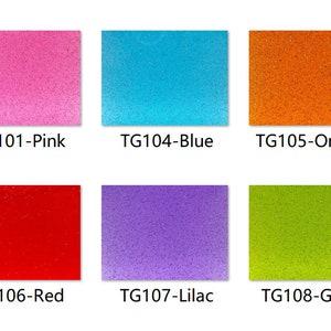 3.0mm Thickness Acrylic PMMA Smoky Glittering Sheet SG03 - Burning Orange .118