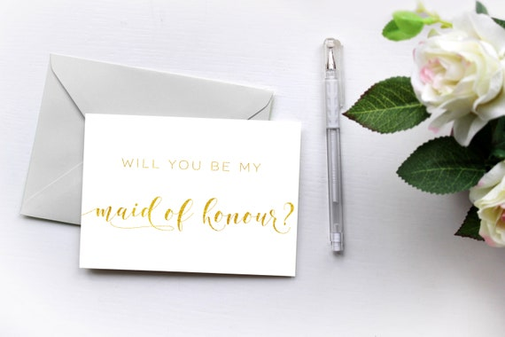 graphic relating to Will You Be My Maid of Honor Printable identified as Will Your self Be My Maid of Honour, Printable Bridesmaid Card, Printable Gold Card in direction of Maid of Honor, PDF Instantaneous Obtain