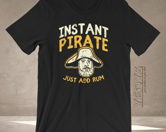 c97ac76f0 Rum Tshirt - Graphic Tee Gift For Rum Tasting, Rum Lovers, Rum Pirate &  Funny Alcohol Quotes - Just Add Rum Instant Pirate Shirt Unisex