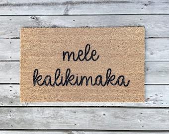 Winter Welcome Mats Holiday Home Decor Mele Kalikimaka Mat Winter Christmas Doormats