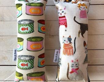"""Crinkle Catnip Kicker """"Tuna Time"""" & """"Cat Party"""" / Cat Toy / Catnip Toy"""