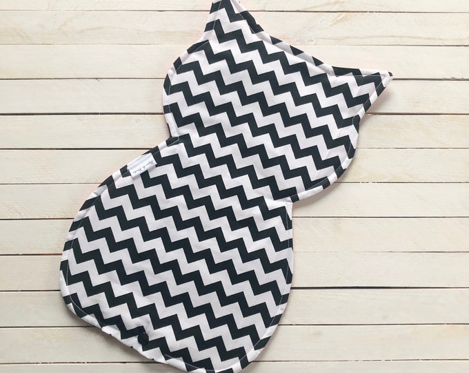 """Refillable Catnip Mat """"Chevron"""" / Flannel Backing / Soft and Cozy /  Washable / Cat Mat for Sleeping and Playing / Catnip Included"""