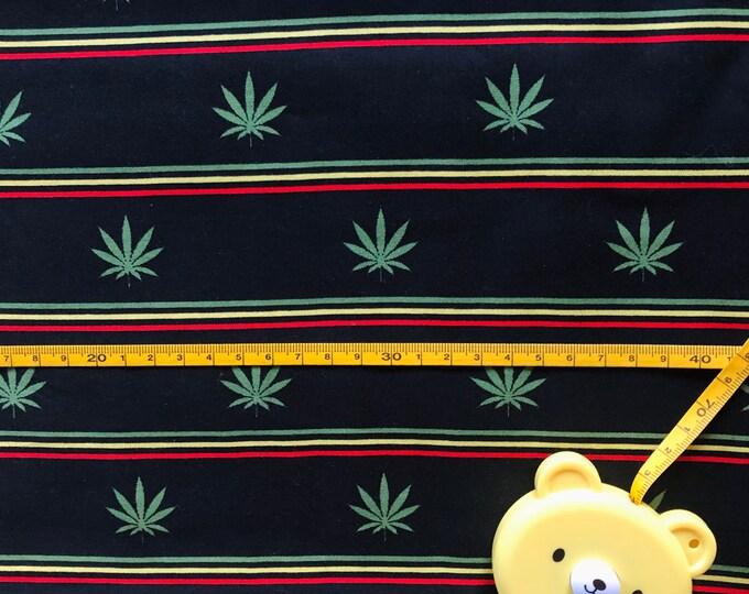 "100% Cotton ""Half Baked"" Fabric / By the Yard / Marijuana Fabric / Cannabis Material"