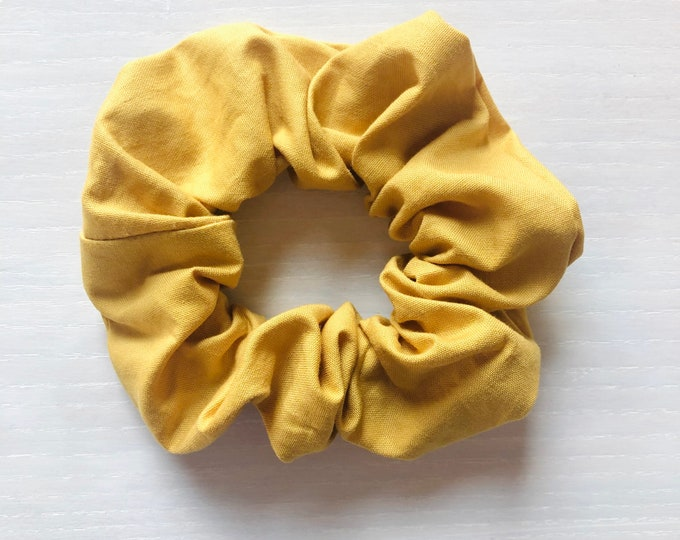"""Hair Scrunchie """"MUSTARD TIGER"""" / Mustard Yellow Premium Hair Scrunchie / Bijou & Birdie Scrunchies for Medium and Thick Hair"""