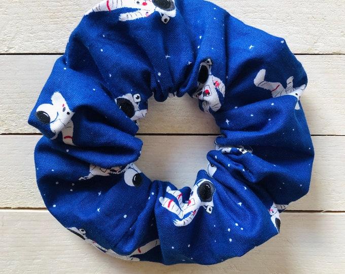 """Hair Scrunchie """"ASTRONAUT ADVENTURE"""" / Premium Hair Scrunchie / Bijou & Birdie Scrunchies for Medium and Thick Hair"""