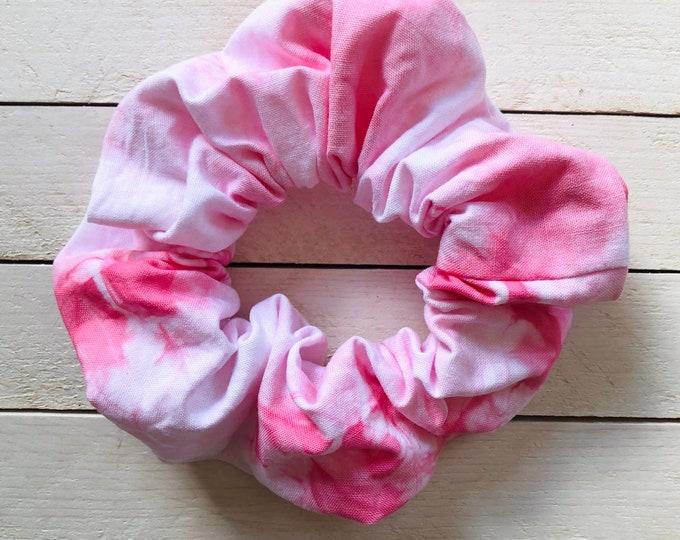 """Tie Dye Hair Scrunchie """"PERFECT PINK"""" / Premium Hair Scrunchie / Bijou & Birdie Scrunchies for Medium and Thick Hair"""