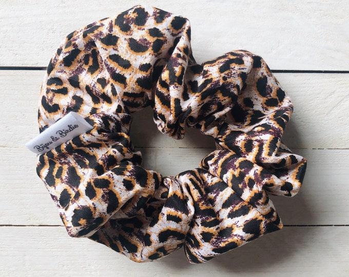"""Hair Scrunchie """"LEOPARD LOVE"""" / Leopard Print Premium Hair Scrunchie / Bijou & Birdie Scrunchies for Medium and Thick Hair"""
