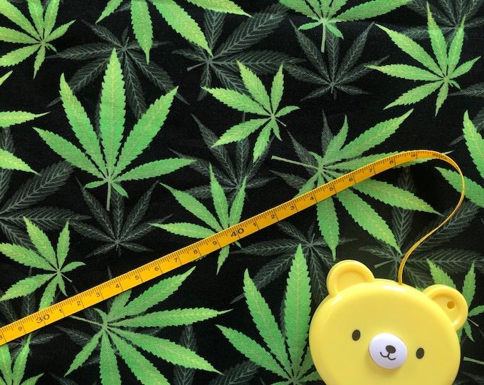 "100% Cotton ""Perfect Pot"" Fabric / By the Yard / Marijuana Fabric / Cannabis Material"