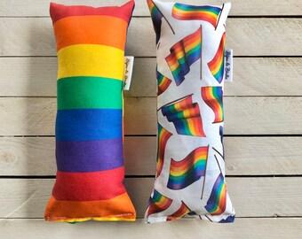 "Crinkle Catnip Kickers ""Pride Babe"" & ""Rainbow Stripes"" / LGBTQ Premium Catnip Toy / 100% Natural Catnip / Cat Lovers"