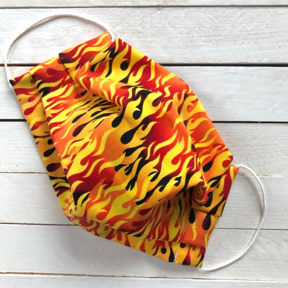 "Adjustable Face Mask ""You're Fired!"" / Washable / Cotton / Adult / Filter Pocket / Elastic / Nose Wire"