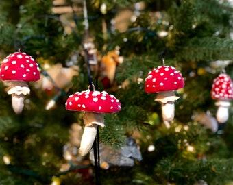 Red Mushroom houseplant or tree ornament