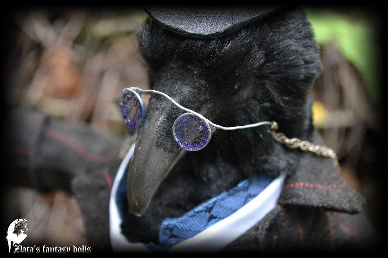 Dr. Benjamin Crow Anthropomorphic Unique Handmade Furry Art image 5