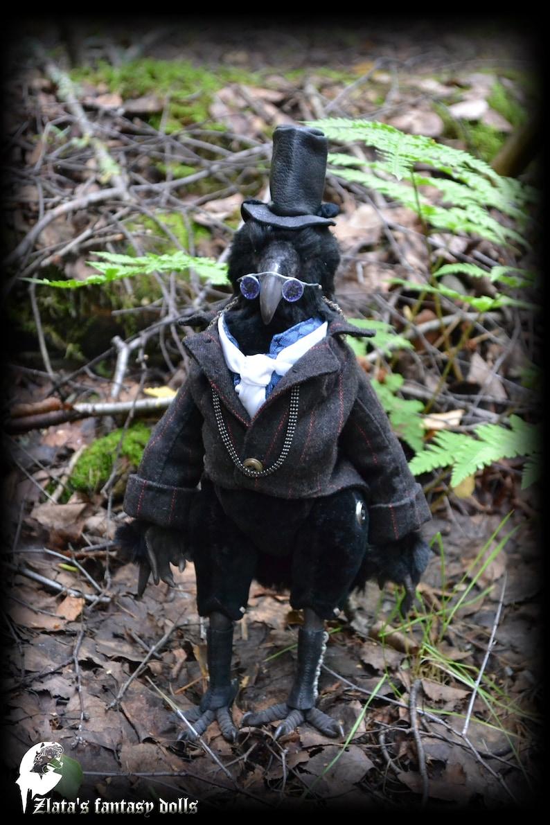 Dr. Benjamin Crow Anthropomorphic Unique Handmade Furry Art image 0