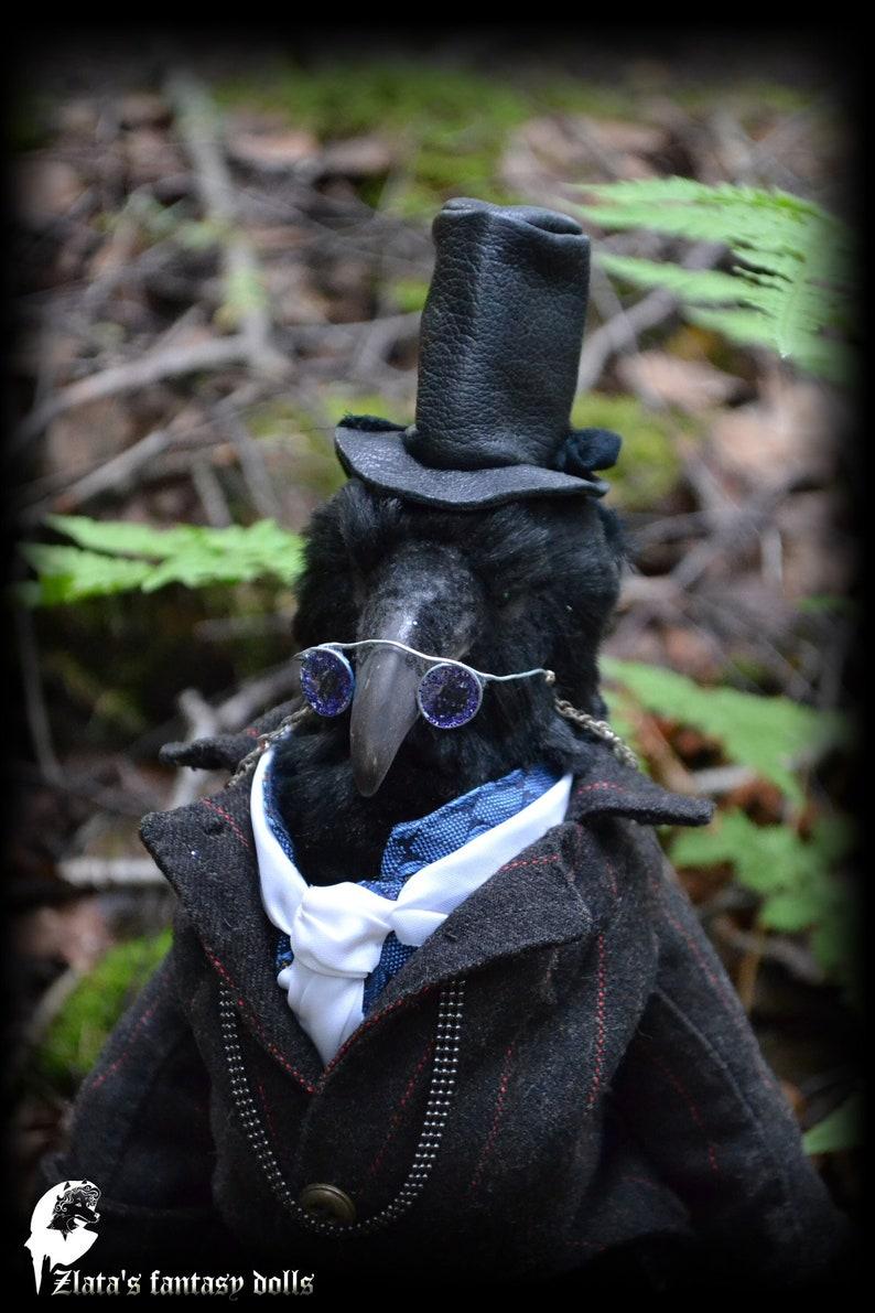 Dr. Benjamin Crow Anthropomorphic Unique Handmade Furry Art image 2