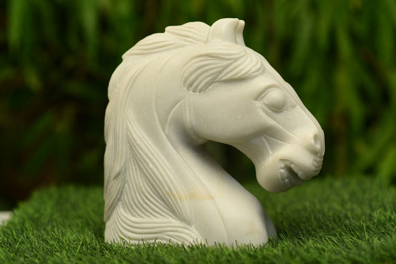 Handmade Solid Marble Horse Sculpture figurine,Animal Figurine,Exclusive Piece of Art Vintage Gift vintage gift antique gift collectibles