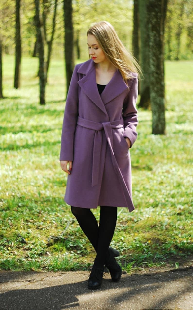 82106f0f2e423e Damen Wintermantel Damen Mantel Wollmantel Eleganter in | Etsy