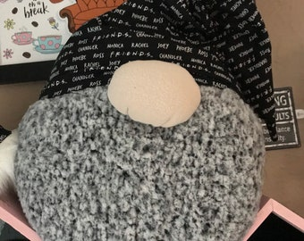 Rae Dunn Inspired Home Accent Gothic Goth Black and White Nightmare Before Christmas Scatter Slouchy Hat-HAT ONLY-For Gnome Pillow Base