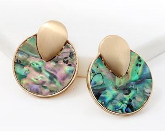 Earring-Shell/Semistone