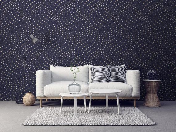 Wallpaper Dark Abstraction 156 Wallpaper Classic Etsy