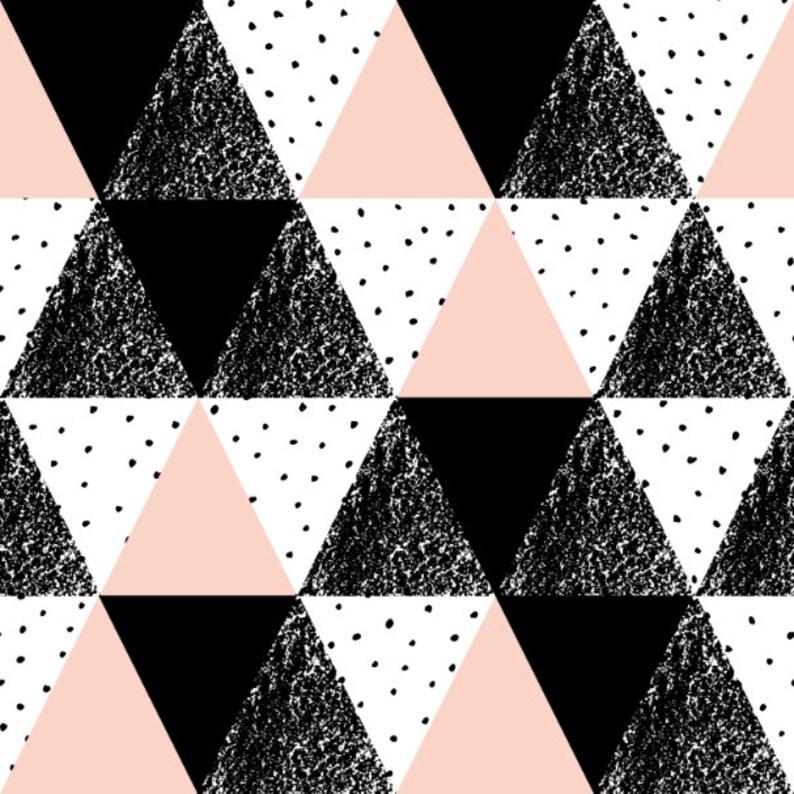 Classic Wallpaper Self-adhesive Wallpaper Removable Wallpaper Peel and Stick Wallpaper Wallpaper Wallpaper Pink /& Black Triangles #132