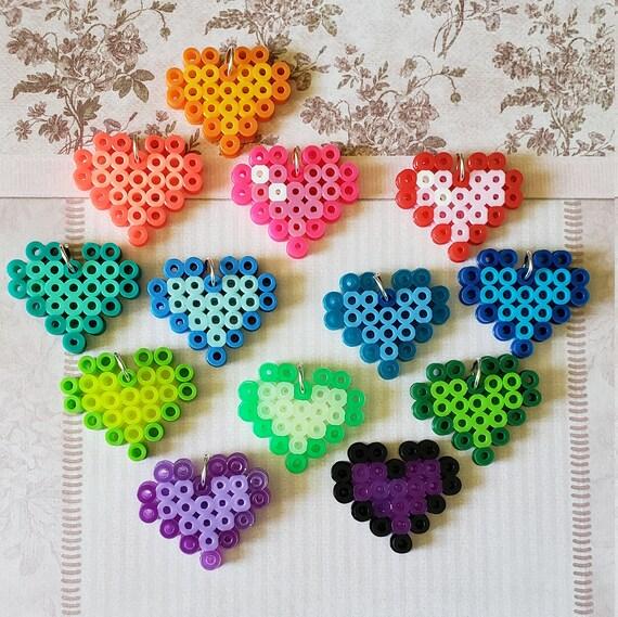 Perler Bead Small Hearts