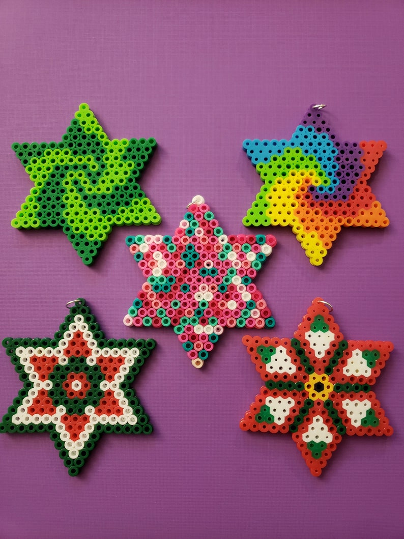 Star made with Perler Beads