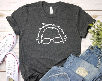 65c2a0a19f92ee Bernie Sanders Hair President 2020 Sketch Drawing Campaign Democrats  Election Shirt Women Men Unisex