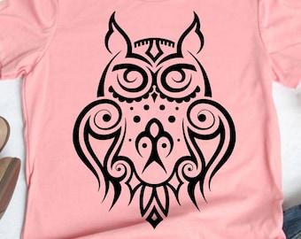 Tribal Owl Tattoo Etsy