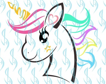 Unicorn svg Unicorn Head svg Unicorn SVG clipart decal | Etsy