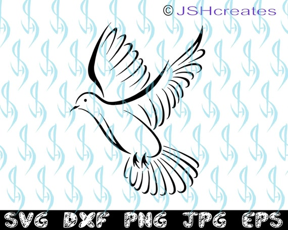 Dove svg, Bird svg, Dove, Bird, SVG, Silhouette, Cut File, Tribal, Tattoo  Design, Clipart, Modern, shirt, Vinyl Stickers, decals, JSHcreates