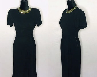 81685019c55c 1940s dress/ Vintage 1940s rayon crepe dress