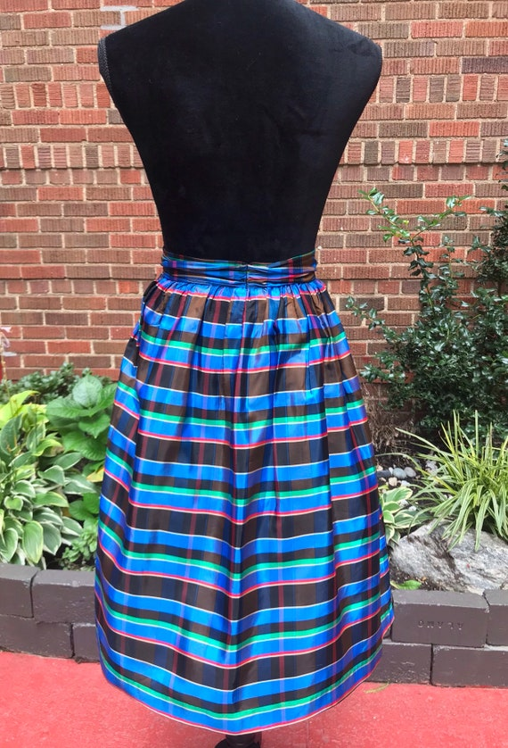 1950s skirt/ Vintage 1950s tartan skirt - image 8