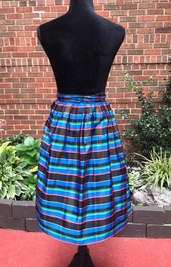 1950s skirt/ Vintage 1950s tartan skirt - image 6