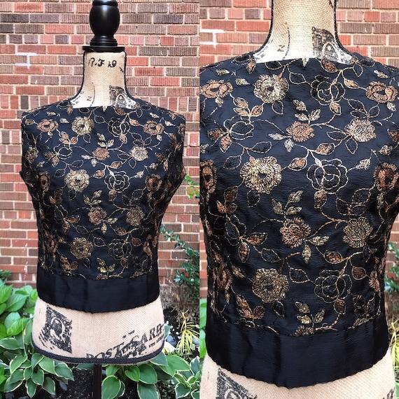1950s blouse/ Vintage 1950s botton back blouse