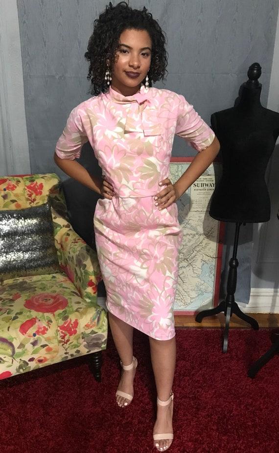 Vintage 1960s floral dress. - image 2