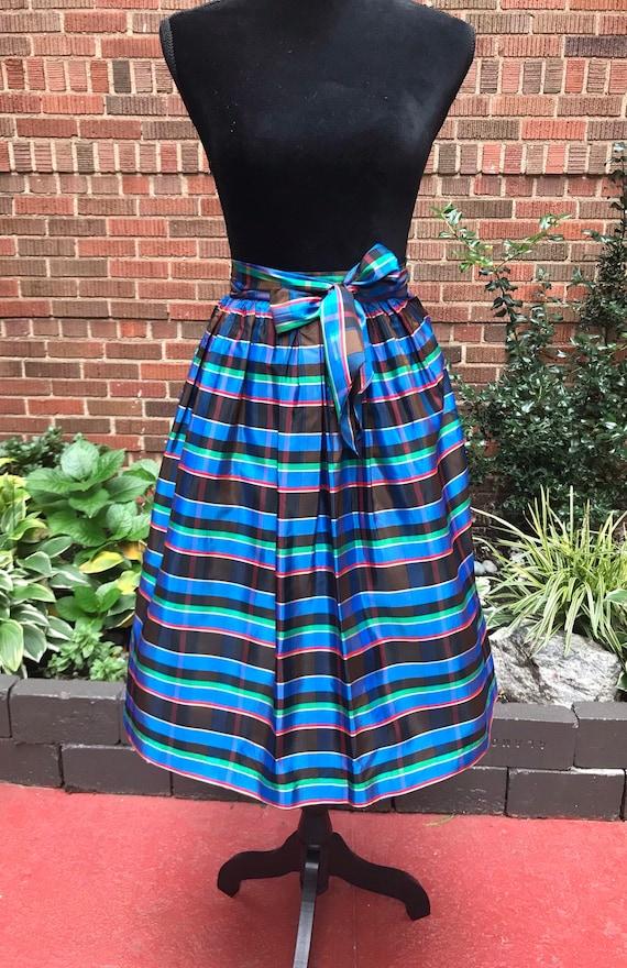1950s skirt/ Vintage 1950s tartan skirt - image 4