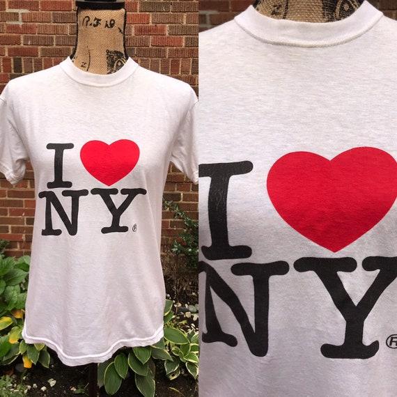 1980s t-shirt/ Vintage 1980s I Love NY tee