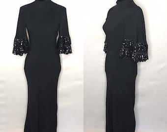 1940s dress/ Vintage 1940s bias cut dress