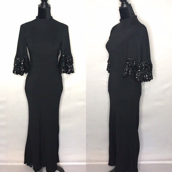 1940s dress/ Vintage 1940s bias cut dress