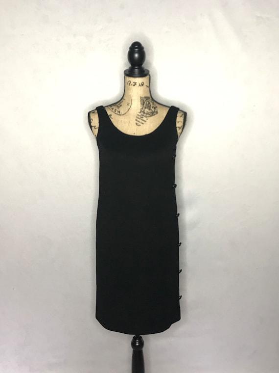 1960s mod dress/ vintage 1960s mod LBD - image 4