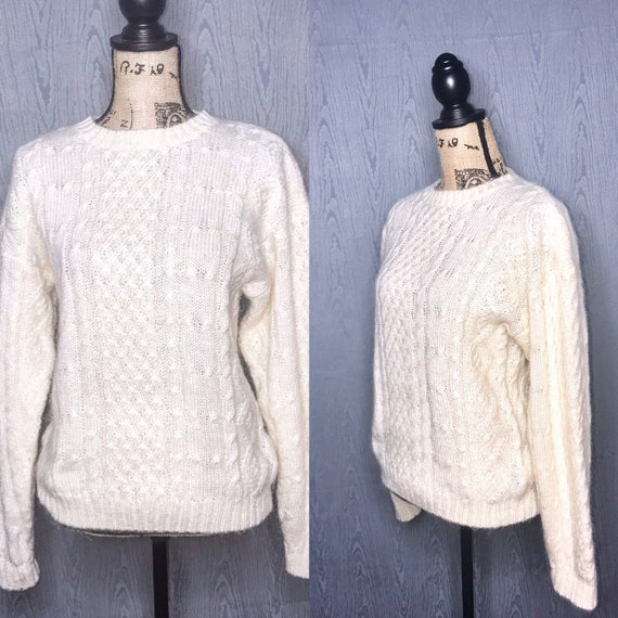 1970s sweater/ vintage 1970s knit pullover sweater