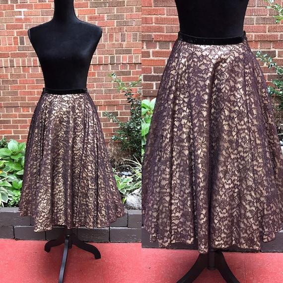 1950s Skirt/ Vintage 1950s Circle Skirt